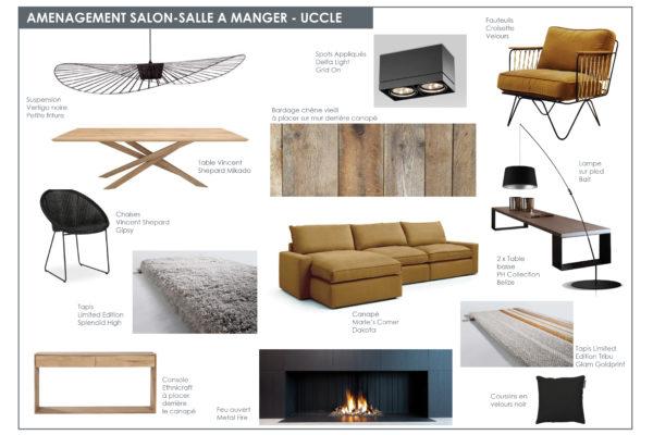 Planche mobilier sàm salon