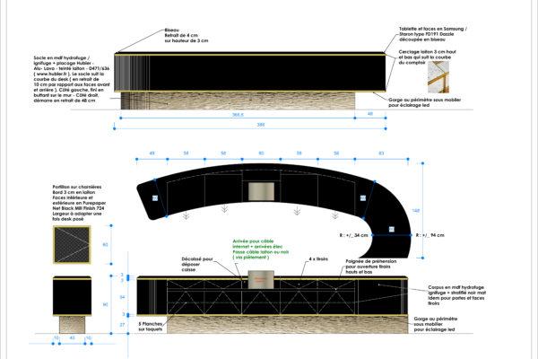 Zone 10 - Vestiaire - Elevation desk détails4